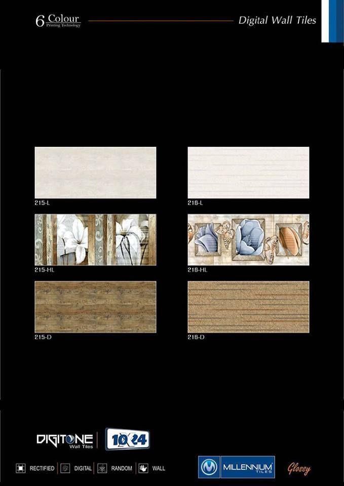 Digitone Wall Tile Series 215 216 Millennium Tiles 250x600mm 10x24 Digital Ceramic Glossy Large Format L Hl