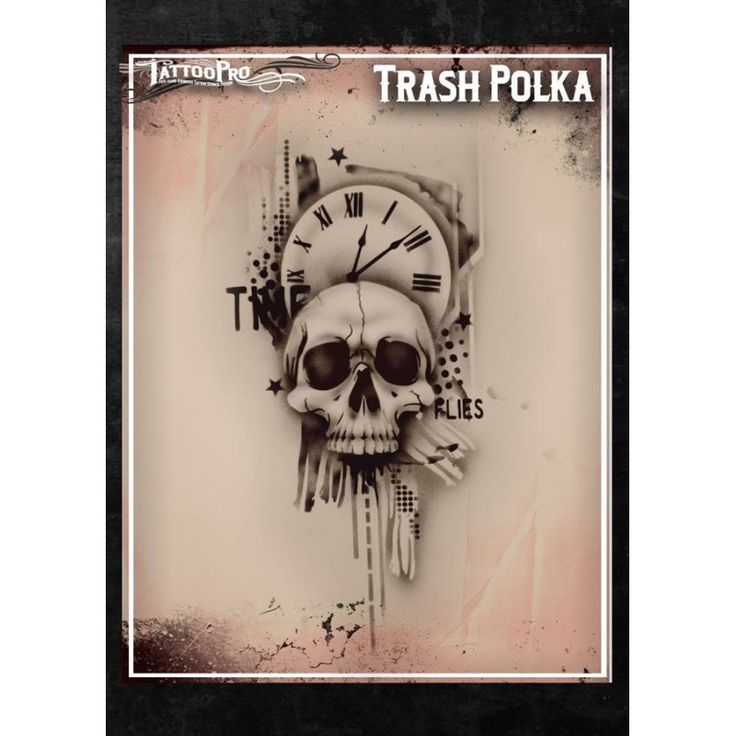 Trash Polka Skull By Mcrdesign On Deviantart: Best 25+ Airbrush Tattoo Ideas On Pinterest