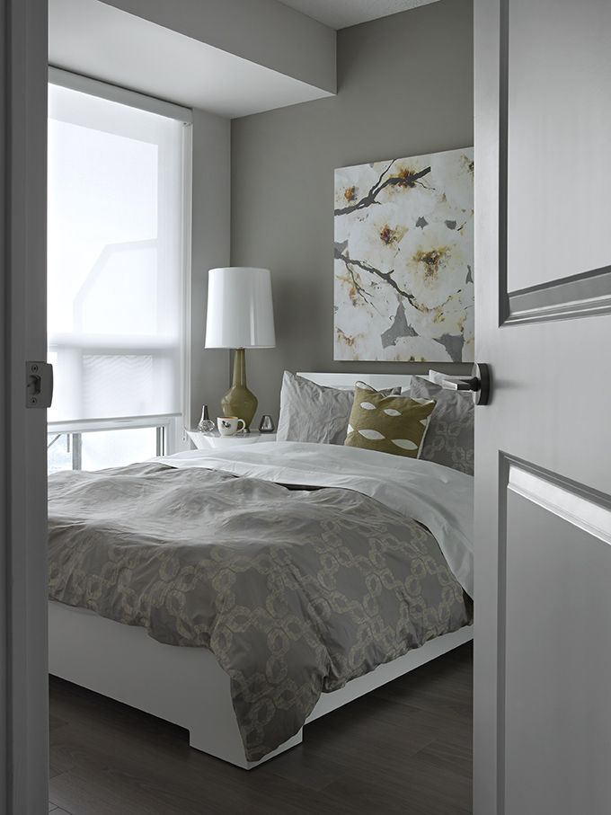 Peek at a Bedroom of the #WestVillage Etobicoke #Decorium #ModelSuite #torontocondo