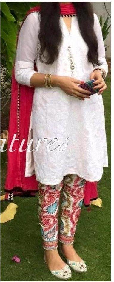 Ethinc Pants Cotton Phulkari Pants Wool Thread by KaamdaniCouture