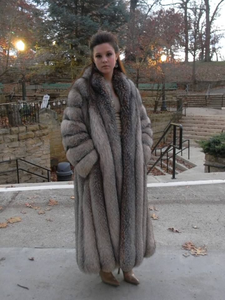 Fur coat fetish orgasm