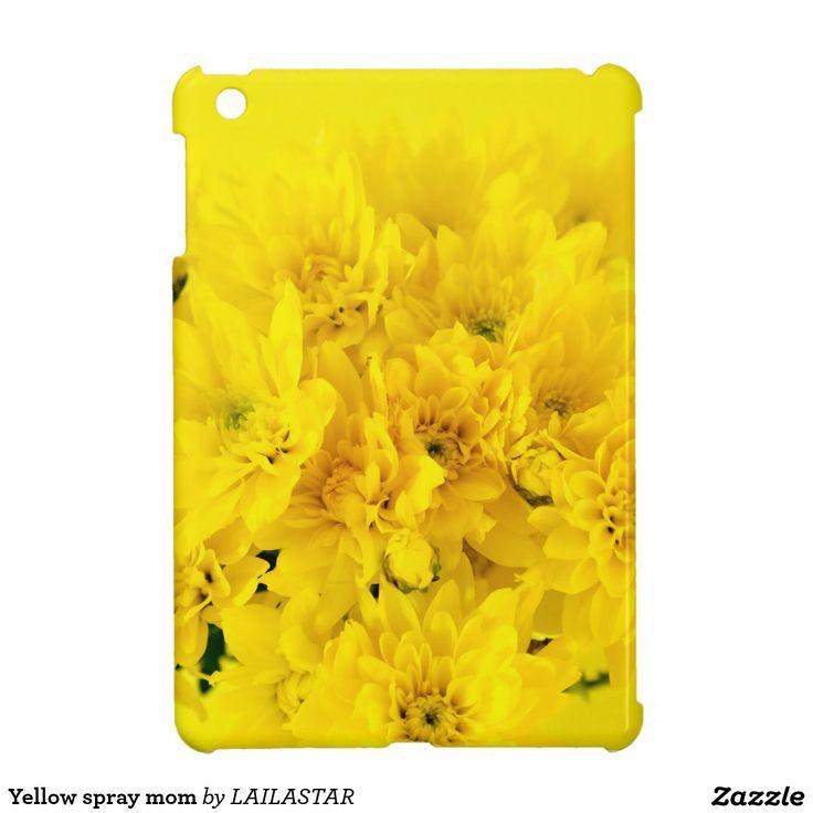 Yellow spray mom étuis iPad mini
