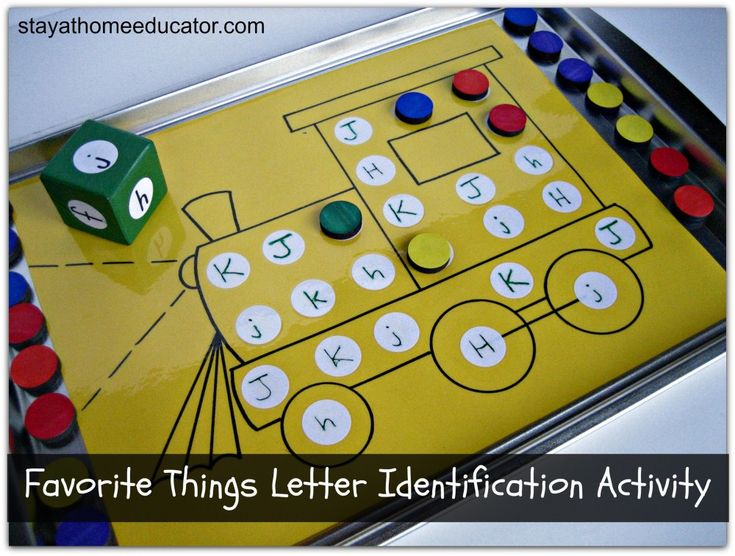 Favorite Things Letter Identification Activity