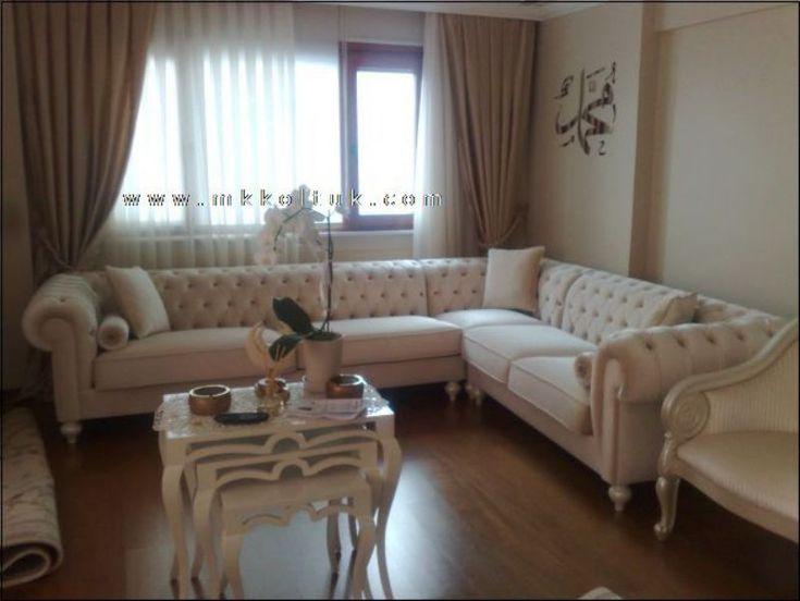 Classic Italian Off White Leather Living Room Sofas