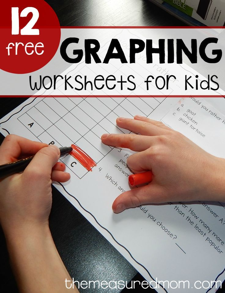 Get 12 free graphing worksheets for a super fun math activity! I love this twist on traditional graphing activities.