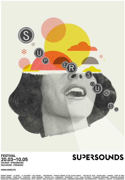 Supersounds music festival - poster