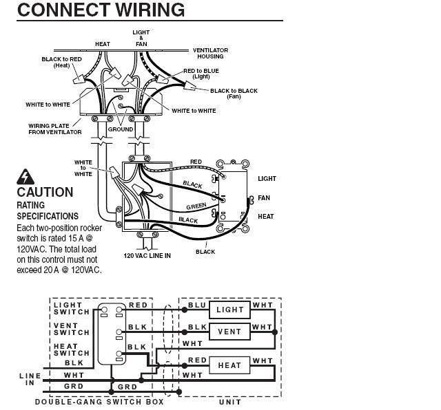 Nutone Exhaust Fan Light Wiring Diagram Get Free Image