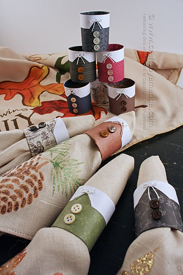 Pilgrim Thanksgiving Napkin Rings by Amanda Formaro of Crafts by Amanda