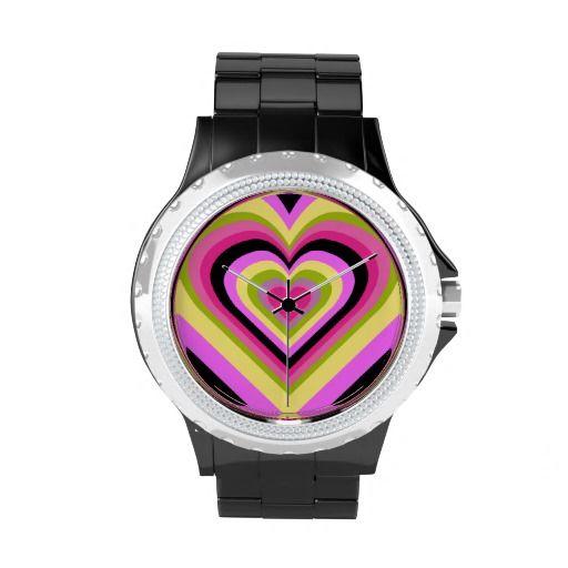 Cool Cute Rainbow Heart Wrist Watch!!