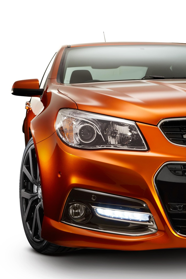 ♂ Orange yellow car - 2014 Holden VF Commodore SS V