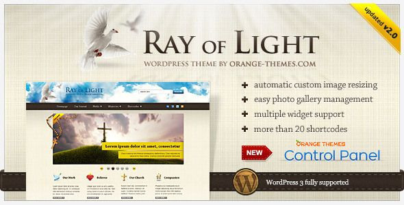 Premium Church Wordpress Themes - Ray of Light