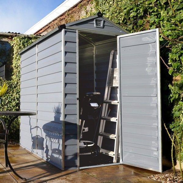 4' x 6' Palram Skylight Plastic Grey Shed - Plastic Sheds - Sheds #plasticgardensheds