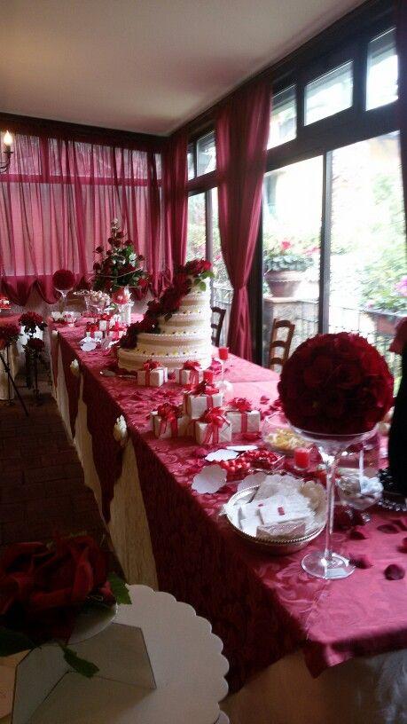 Confettata laurea ...panoramica tavolo