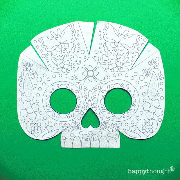 Pin By Jolene Mitchell On Masks Masks Crafts Day Of The Dead Mask Mask Template
