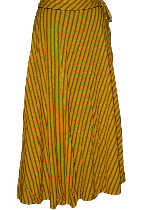 Yellow Coloured Block Print Jaipuri Wraparound Skirt  http://alicolors.com/index.php?route=product/product&product_id=1172