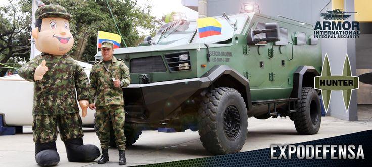 HUNTER TR-12 en EXPODEFENSA 2017 | Armor International ::: Blindajes de máximo desempeño