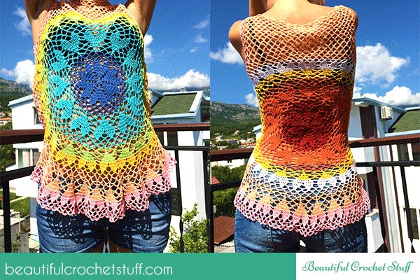 Lovebeat Crochet Top Tutorial