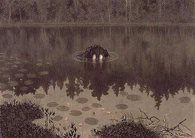 Nakken, by Theodor Kittelsen, arguably the greatest artist of Norvegian folklore (died 1914)...