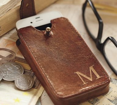 Saddle Leather Phone Case. More beautiful than the average iPhone case – and more protective – this case cradles your iPhone in stylish, soft saddle leather. $19 #potterybarn