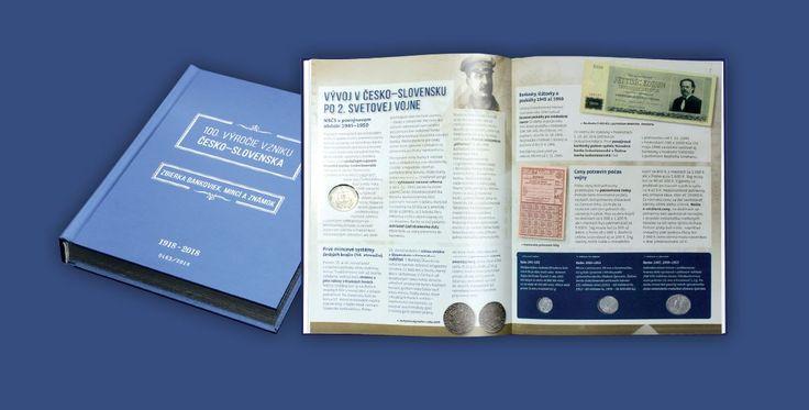 Veľká kniha česko-slovenskej numizmatiky  Limitovaná edícia vrátane 22 historických bankoviek, mincí a známok