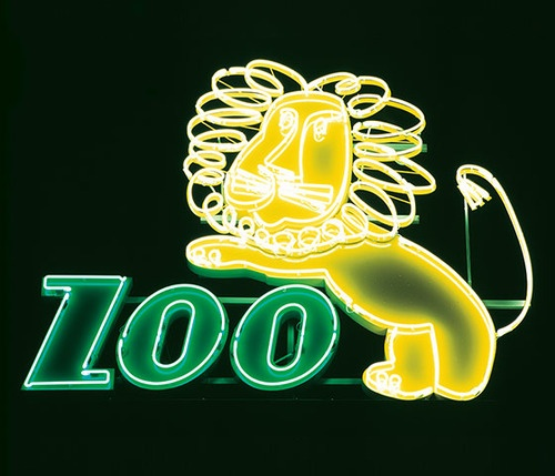 PZU Insurance, Wroclaw,  Lion sign from the zoo in... | Lustik