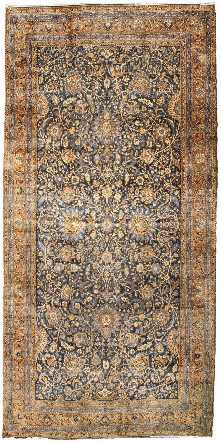 Antique Persian Kirman Rug CarpetLiving Room