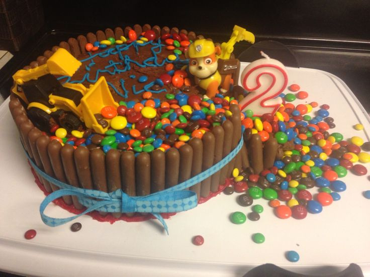 Easiest cake ever - and toddler-proof. It still looked good after being attacked before the party.