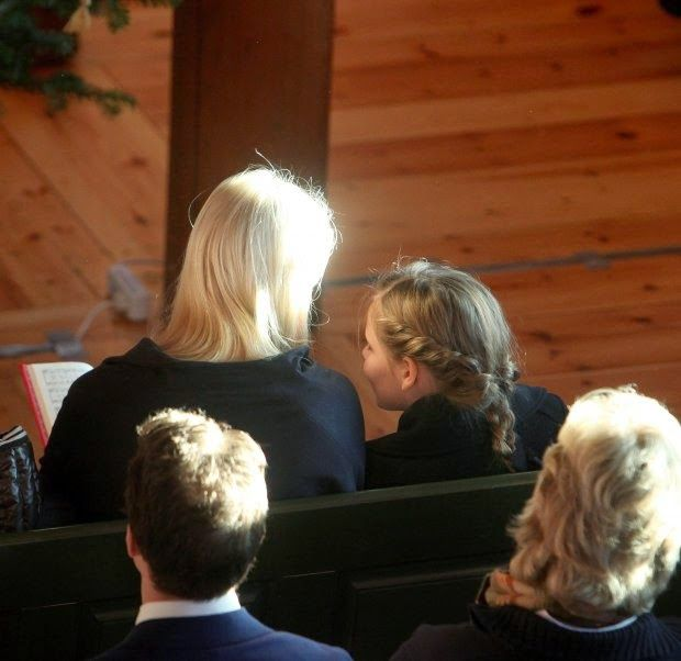 The King and Queen of Norway, accompanied by the Crown Princely Family attended Christmas Day service at Holmenkollen Chapel.25/12/2014