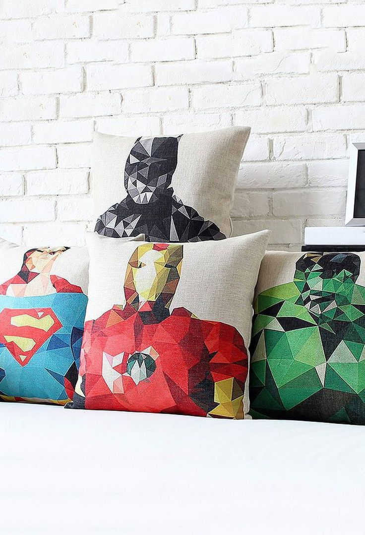 Adorn your bedroom, office or entertainment area with gorgeous Polygon Hero Pillowcases that are inspired by popular superheroes.