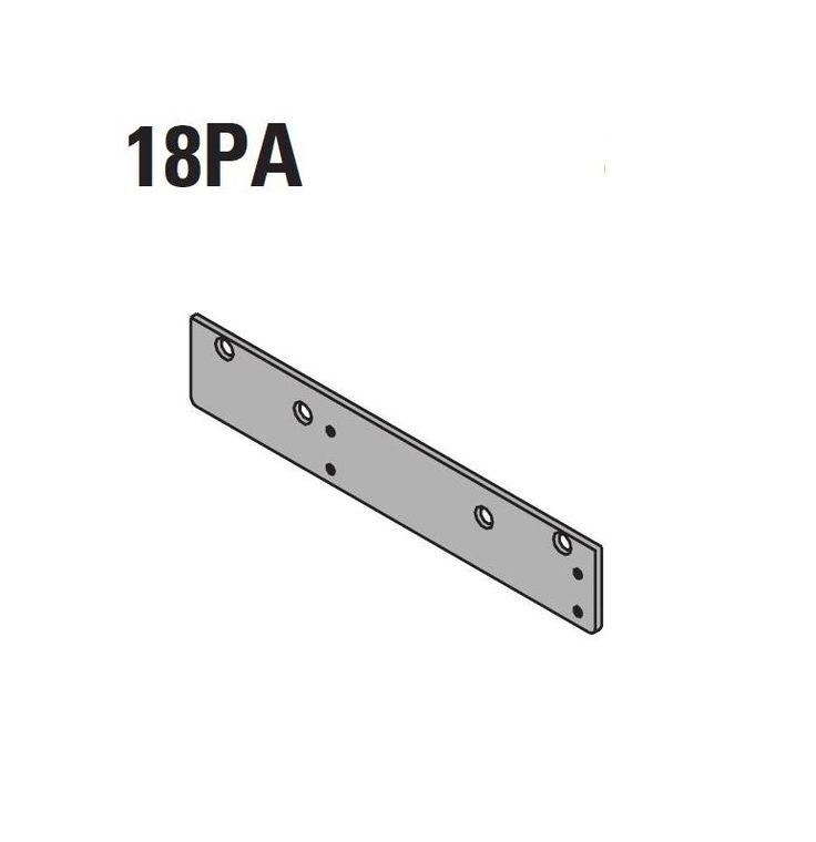 LCN 1460-18PA Drop Plate for Parallel Arm Mount 1460 Series Door Closers Dark Bronze Part Door Closer Parts Adapter Plate