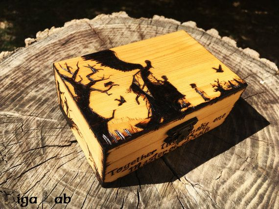 Deathly Hallows Box  Harry Potter di GigaLabWoodCreations su Etsy