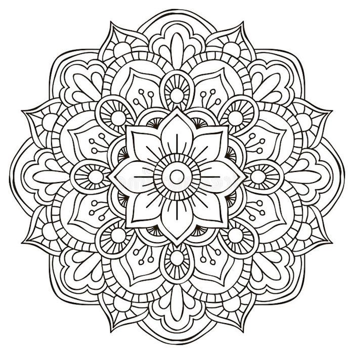 1001 Coole Mandalas Zum Ausdrucken Und Ausmalen Mandala Doodle Mandala Art Flower Mandala