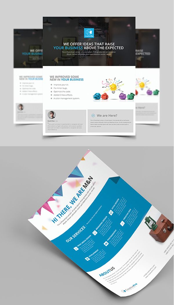 1000 images about brochure flyer designs on pinterest for Professional brochure templates
