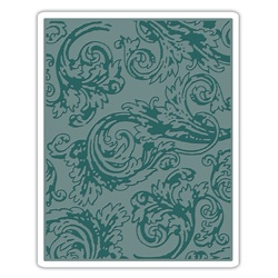 Tim Holtz Alterations by Sizzix Regal Flourishes Texture Fades Embossing Folder