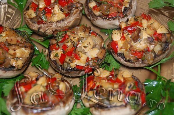 Ciuperci umplute (Reteta vegetariana)