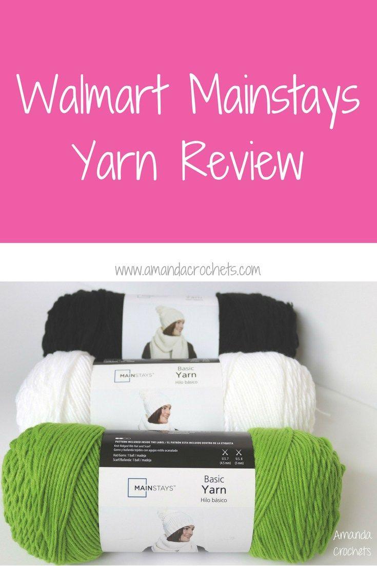 Walmart Mainstays Yarn Review Amanda Crochets Crochet Crochet