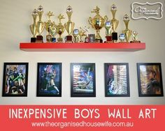 {The Organised Housewife} Boys Bedroom Inexpensive wall art