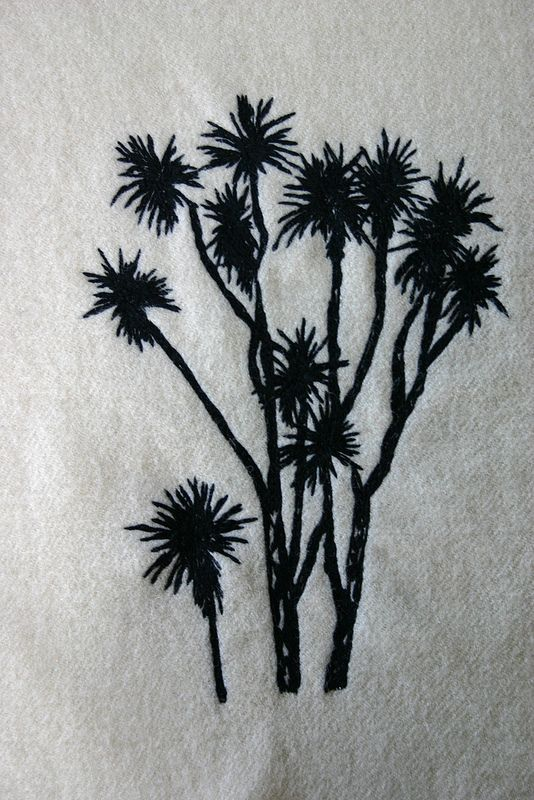 Freehand Machine Embroidery Cabbage tree | by Firecracker Studio