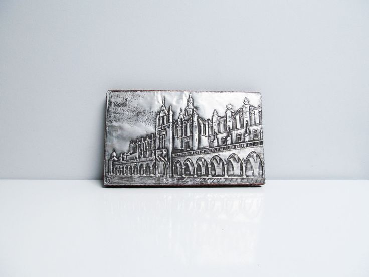 Vintage embossed wall hanging silver metal sheet on wood Belgium tourism The Halles in Ypres Flanders, embossed building Length 9.6 in by EbyVintage on Etsy
