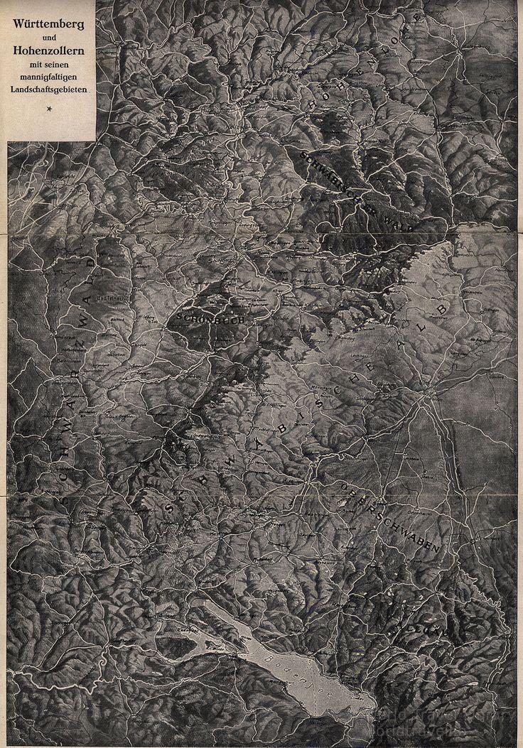 https://flic.kr/p/TngJDd   Baden-Württemberg - Von der Zollernalb zum Donautal südwestl. Schwabische Alb, Reisen Wandern Wintersport; 1952, map, Germany