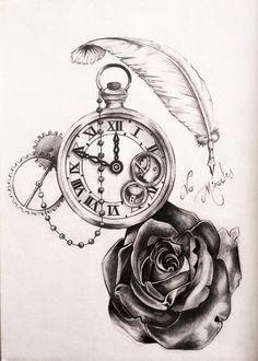 Photos horloge tattoo dessin