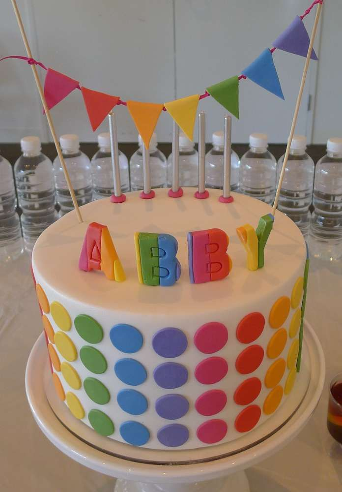 Rainbow Disco Birthday Party Ideas | Photo 1 of 5 | Catch My Party