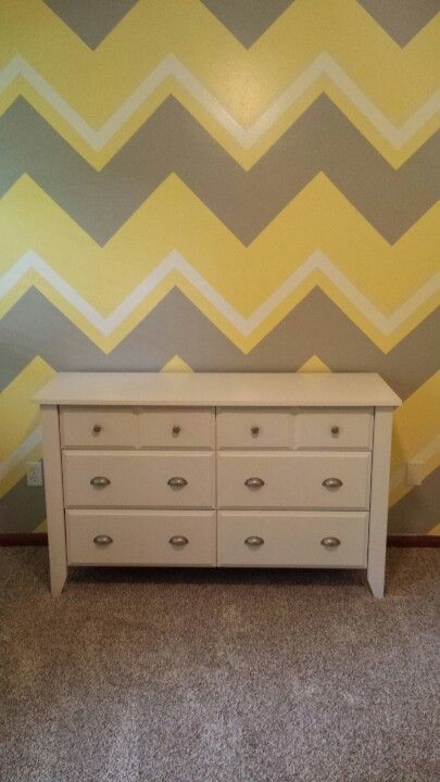 Same design with pink and grey with smaller chevron stripe in aqua for Chloe's big girl room!!! LOVE IT!!!!