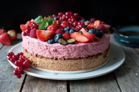 Bringebærkrem på mandelbotn er ei flott kake å setje på kakebordet, og med sin freshe rosa farge skil den seg litt frå dei fleste andre kaker. Mandelbotnen er perfekt å... Fortsett å les »