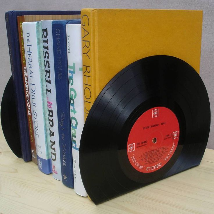 ROCK N ROLL Vintage Vinyl LP Record Bookends Great Music Lover Home Decor Gift. $15.00, http://www.etsy.com/listing/111123704/rock-n-roll-vintage-vinyl-lp-record