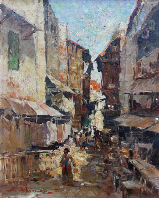 Gerard Pieter Adolfs - Straat in de oude wijk