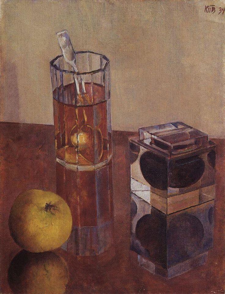 Натюрморт с чернильницей, 1934 Кузьма Петров-Водкин