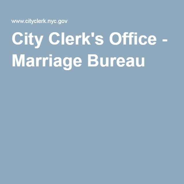 City Clerk's Office - Marriage Bureau