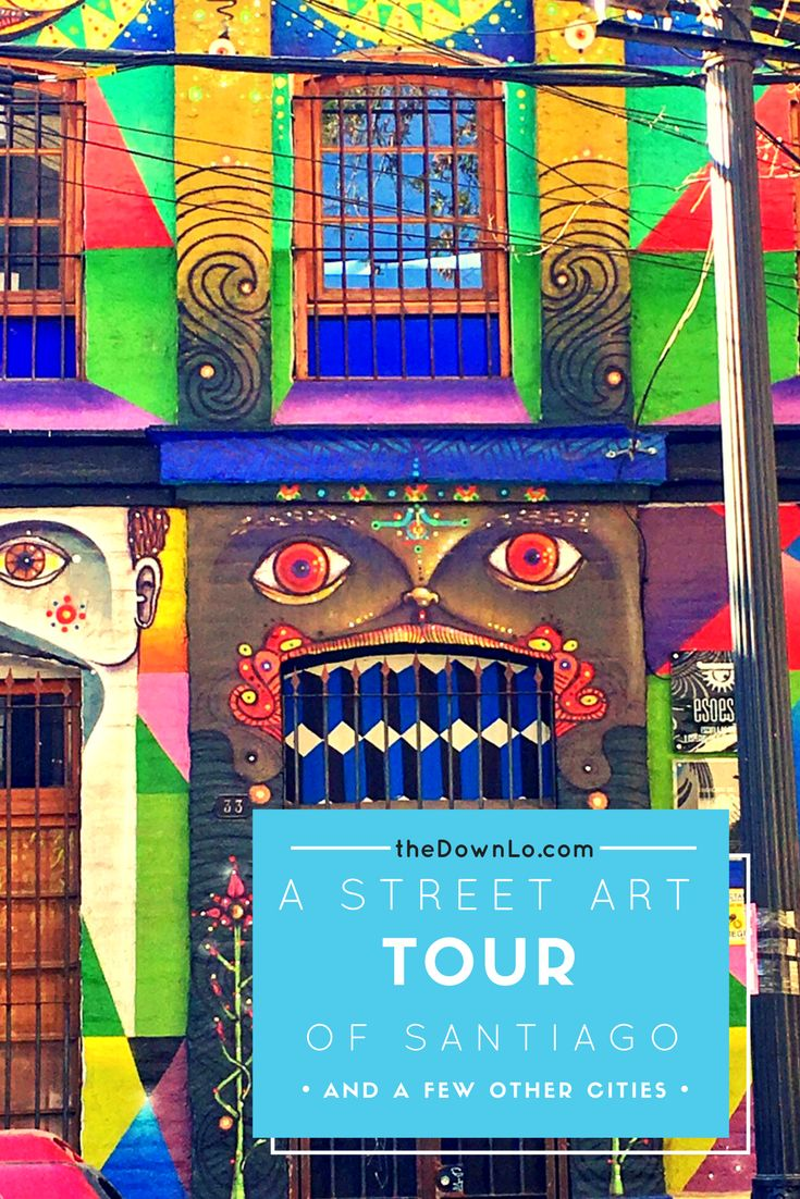 A street art tour of South America - Santiago, Valparaiso and Buenos Aires #chile #argentina #travel #art #culture