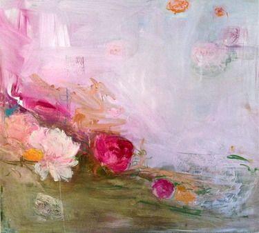 """Saatchi Online Artist Madeleine Lamont; Painting, """"Pink Field 4"""" #art"""